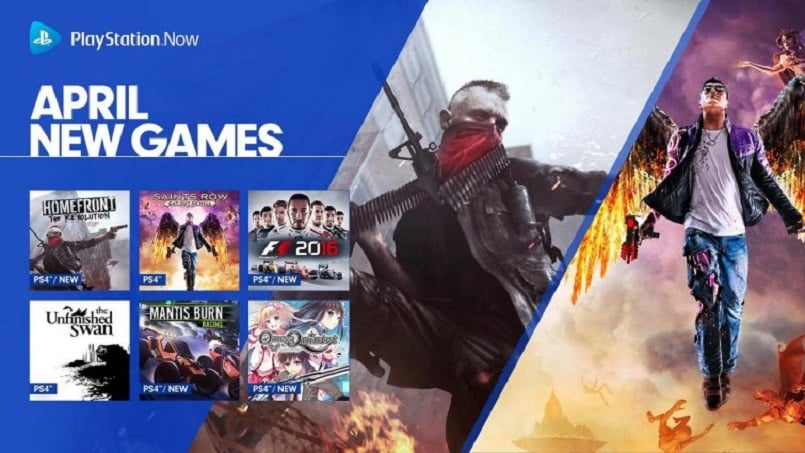 PlayStation Now game list for April officially revealed