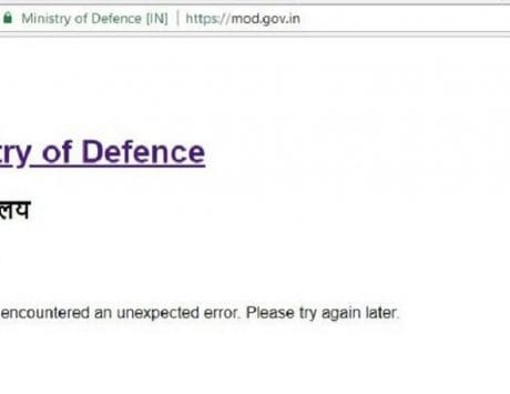 Ministry of Defence website hacked, shows Chinese characters on homepage