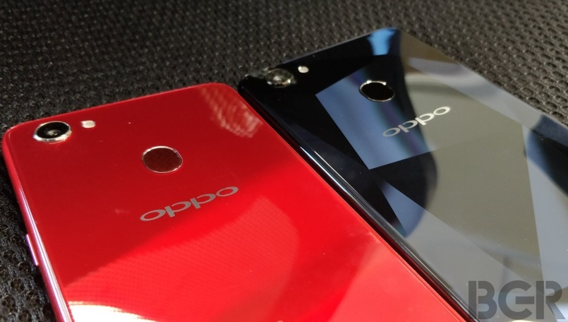 oppo f7 red and diamond black