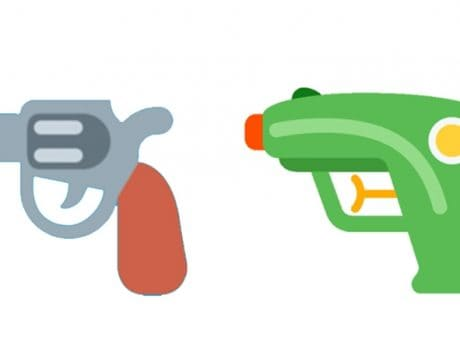 Microsoft to replace pistol emoji with water gun