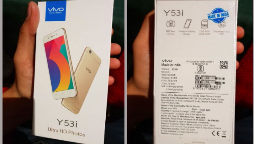 Vivo Y53i with 8-mp camera launched in India at Rs 7990
