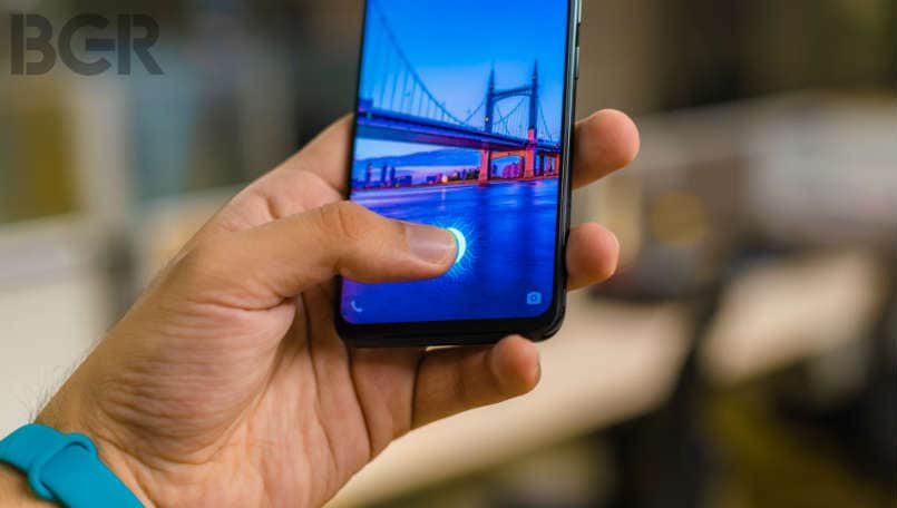Vivo X21 in-display sensor intext