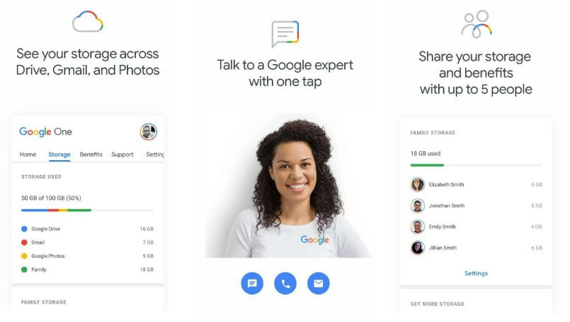 Google One app listing appears on Play Store, will simplify cloud offering