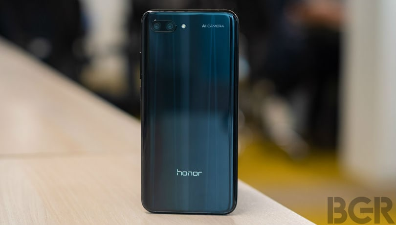honor 10 hands on back