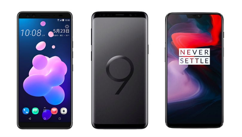 HTC U12+ vs Samsung Galaxy S9+ vs OnePlus 6: Specifications, features compared