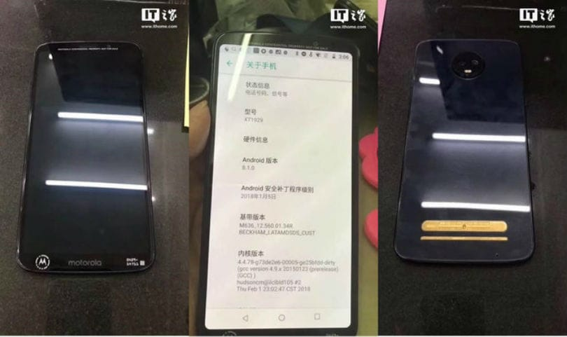 Moto Z3 Play leaked in new set of photos