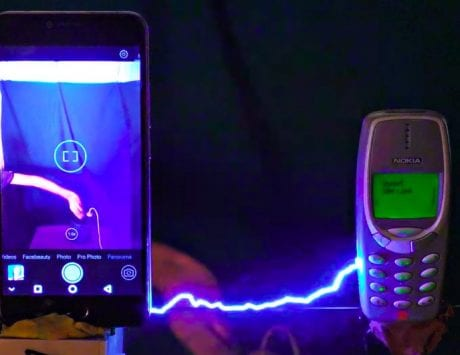 Watch: The original Nokia 3310 gets blasted with 1 million volts; the result is beyond impressive