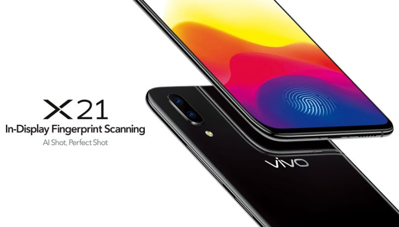 Vivo X21 with in-display fingerprint scanner launched in India for Rs 35,990, will be a Flipkart exclusive