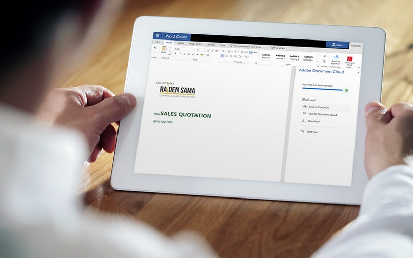 Adobe teams up with Microsoft to bring PDF services to Office 365, improves Adobe Scan