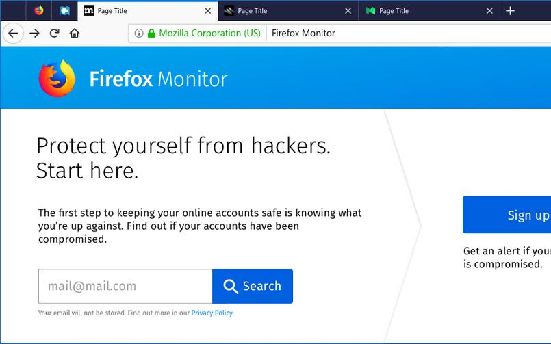 Firefox Monitor Homepage 805px