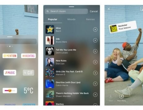 Instagram now allows you to add a matching soundtrack to your Stories