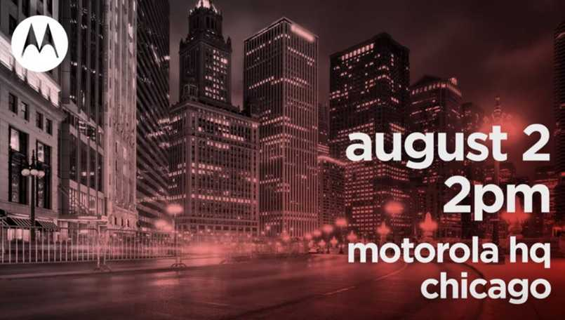 Motorola promises 'big announcement' on August 2 in Chicago; Moto Z3, Moto One Power launch likely