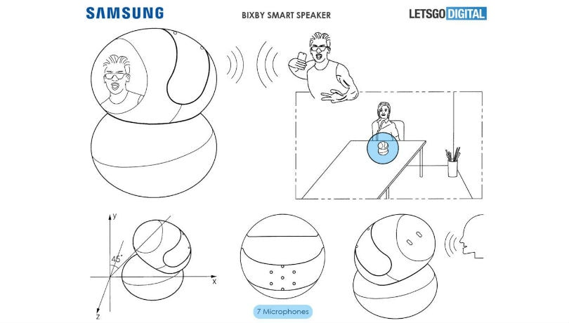 Samsung Bixby smart speaker could sport a display, camera and 7 mics: Report
