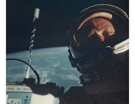Buzz Aldrin just reminded the world that he took the first space selfie