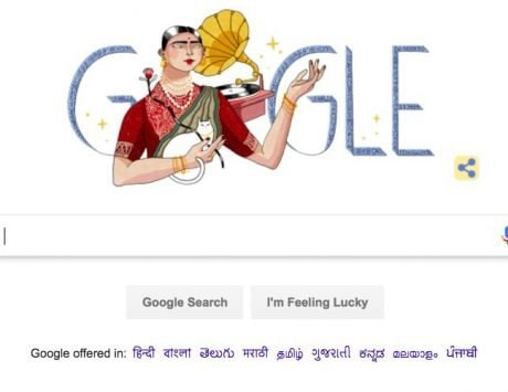 Gauhar Jaan dedicated a Google doodle on her 145th birth anniversary