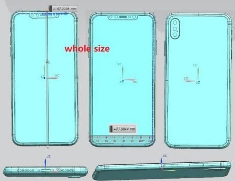Apple iPhone X Plus and cheaper iPhone X design revealed in leaked schematics