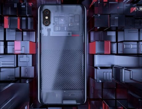 Xiaomi Mi 8 Explorer Edition's transparent back uses a fake circuit board