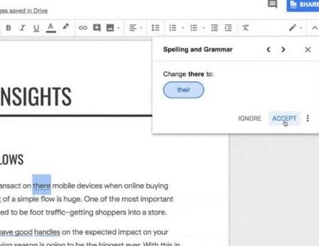 Google Docs get AI-powered grammar checks that depend on machine translation