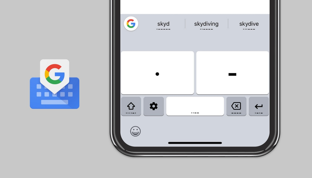 Google's Gboard for iOS adds Morse Code typing to help differently abled people