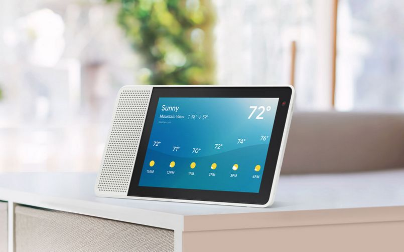 Lenovo Smart Display Google Assistant Weather Sunny 805px