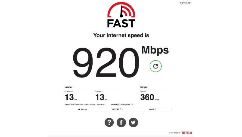 Netflix's Fast.com now displays upload speed and latency