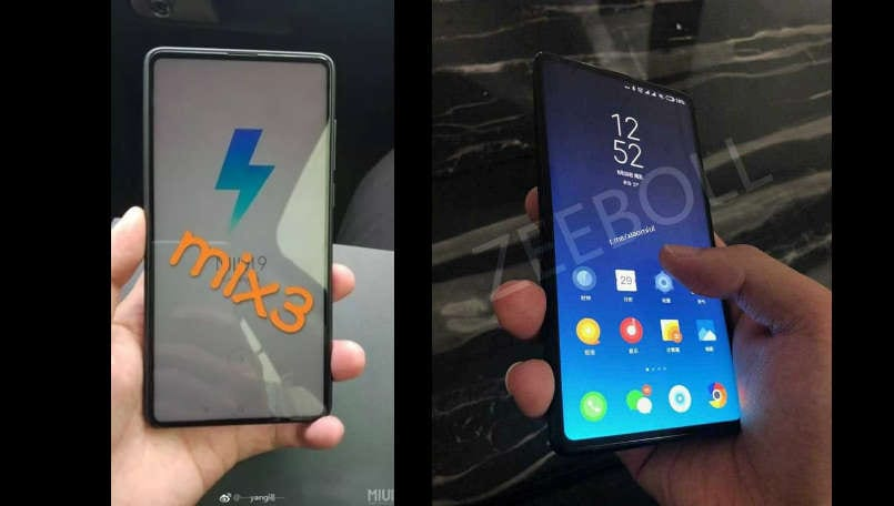 Xiaomi Mi MIX 3's leaked live image confirms full-screen design