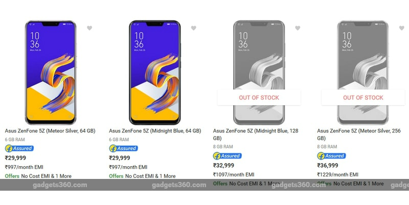 Asus Zenfone 5Z launched in India, pricing starts at Rs. 29999 ($437)