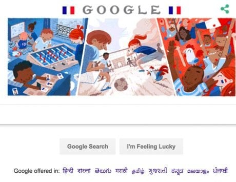 World Cup 2018: Google doodle dedicated to France vs Belgium semi-final match