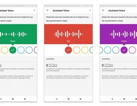 Google Assistant voice options gets color coded