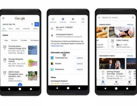 Google Search will now recommend events nearby based on your interest