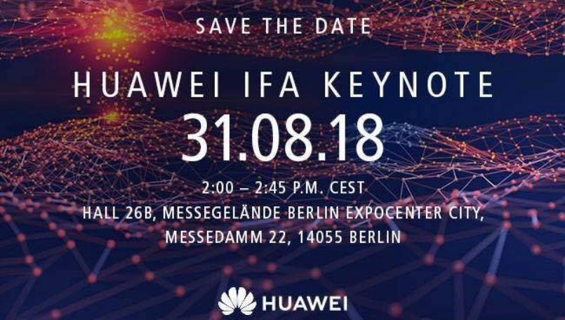 Huawei sends out IFA 2018 invites, flagship Kirin 980 processor launch imminent