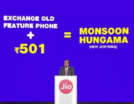 JioPhone Monsoon Hungama Offer: Get a new JioPhone for Rs 501