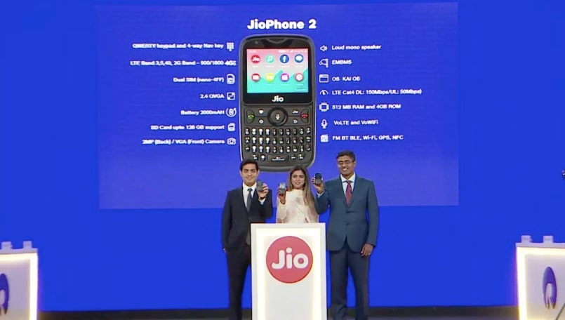JioPhone 2 third flash sale to be held on September 6 at 12PM