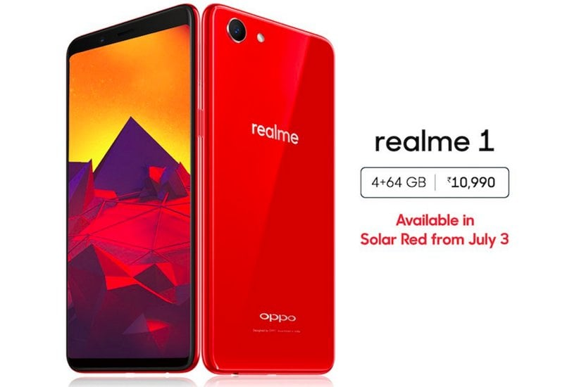 After OnePlus 6, Oppo's Realme 1 4GB variant gets a red color option