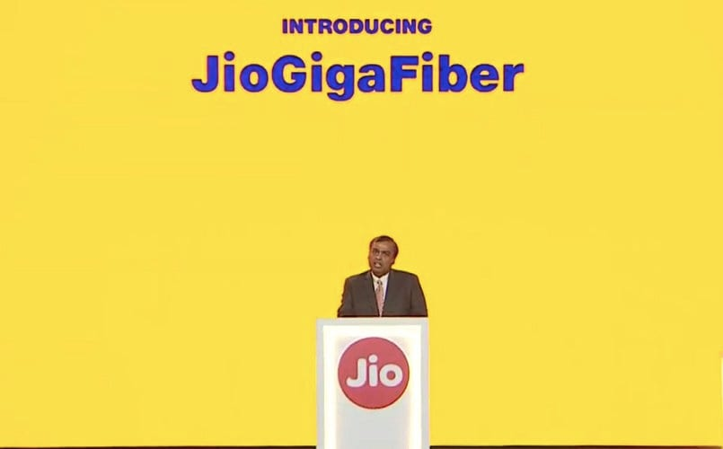Reliance JioGigaFiber will place India among top 3 nations in fixed broadband: Ambani