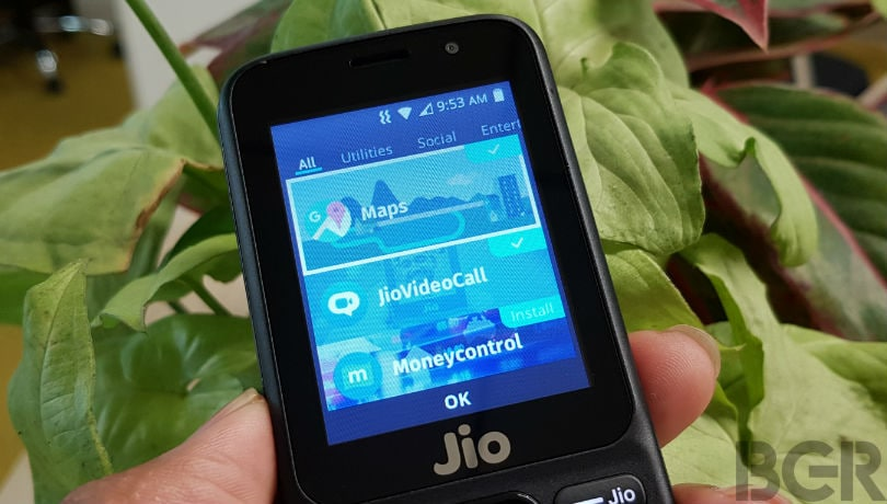 reliance jiophone google maps