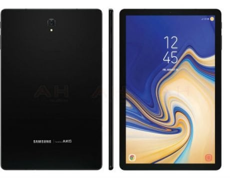 Samsung Galaxy Tab S4 leaked render shows off design, slim bezels