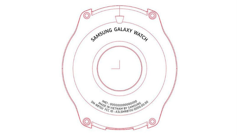 Samsung Galaxy Watch with 1.2-inch circular display certified by the FCC