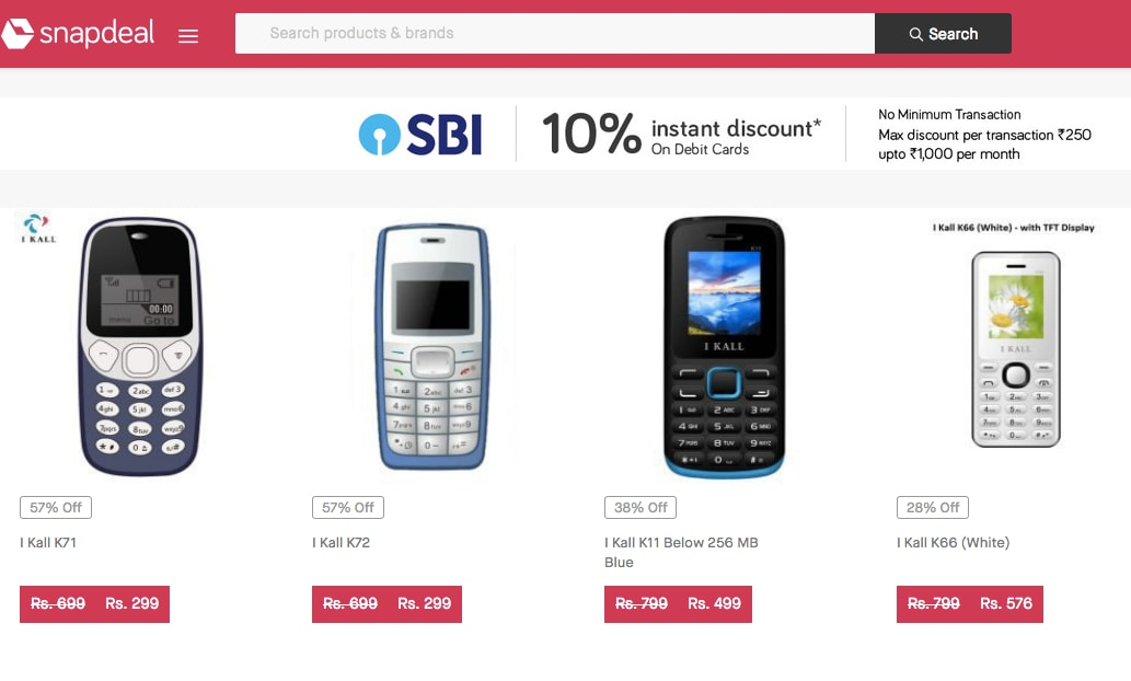 6b8f4da59 Reliance JioPhone effect  Snapdeal launches 3-day  Feature Phone ...