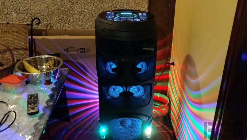 Sony V81D Party Speaker Review: Big, loud and flashy