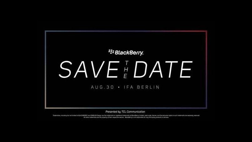 BlackBerry Key2 Lite likely to launch at IFA 2018; TCL sends out invites