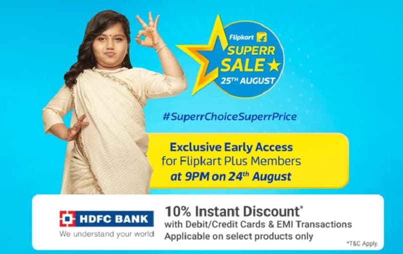 Flipkart Superr Sale kicks off tonight for Flipkart Plus members: All you need to know
