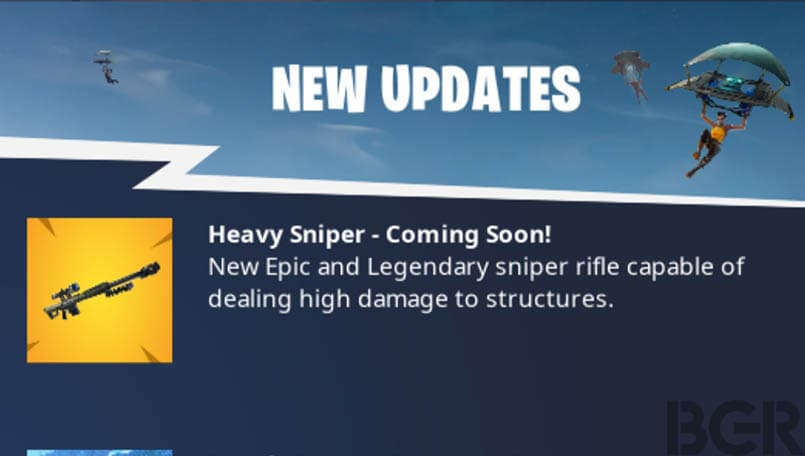 Fortnite is about to get a new heavy sniper rifle