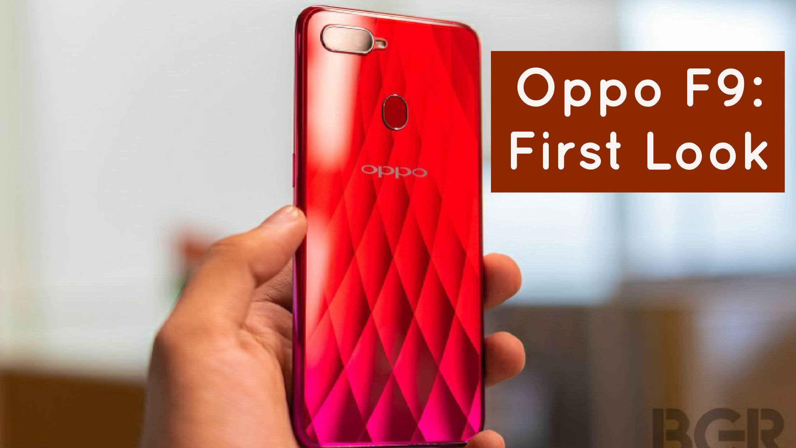 Oppo F9 First Look video cover