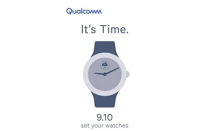 Qualcomm maybe planning to launch its new SoC for smartwatches on September 10