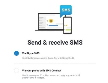 Skype Preview for Android brings SMS Connect; lets you send and receive SMS messages from your PC