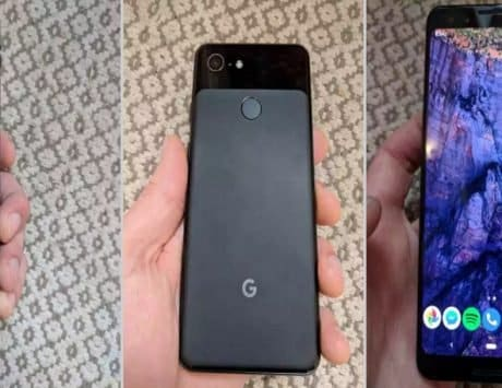 This is Google Pixel 3, and it does not have a notch