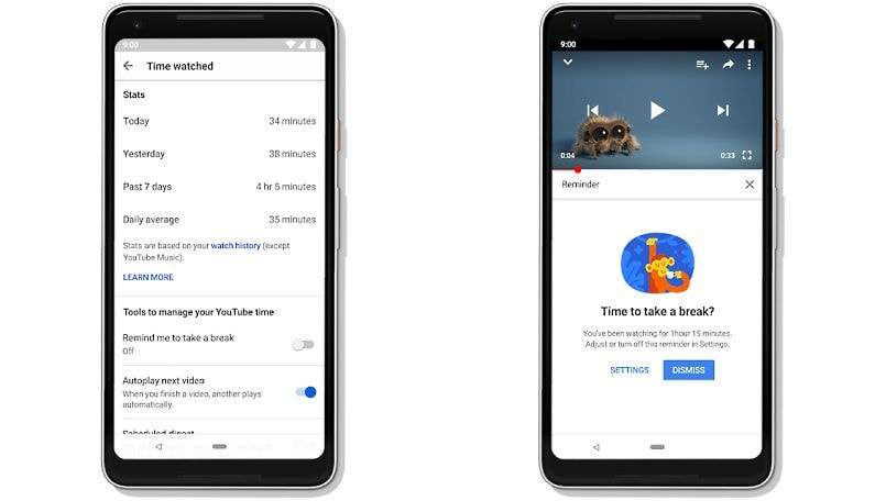 google-youtube-digital-wellbeing-time-watched-feature-official