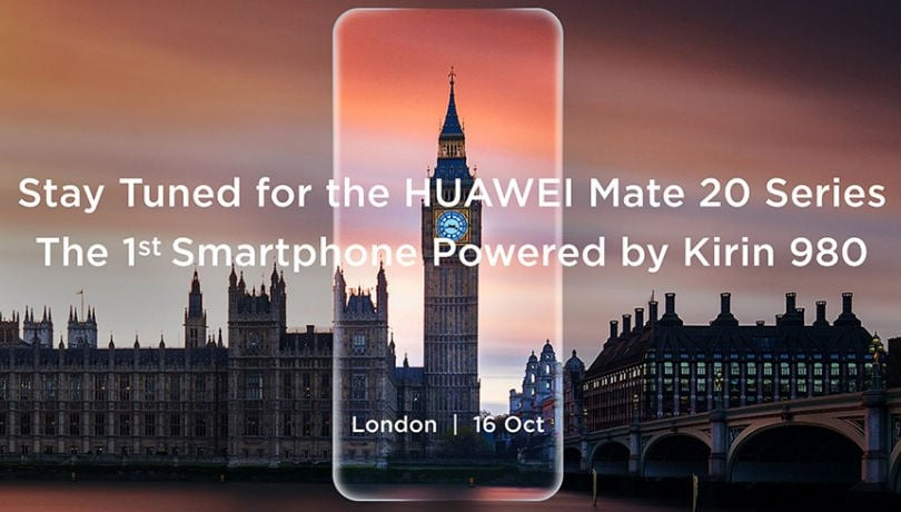 Huawei Mate 20 powered by 7nm Kirin 780 SoC to launch on October 16 in London