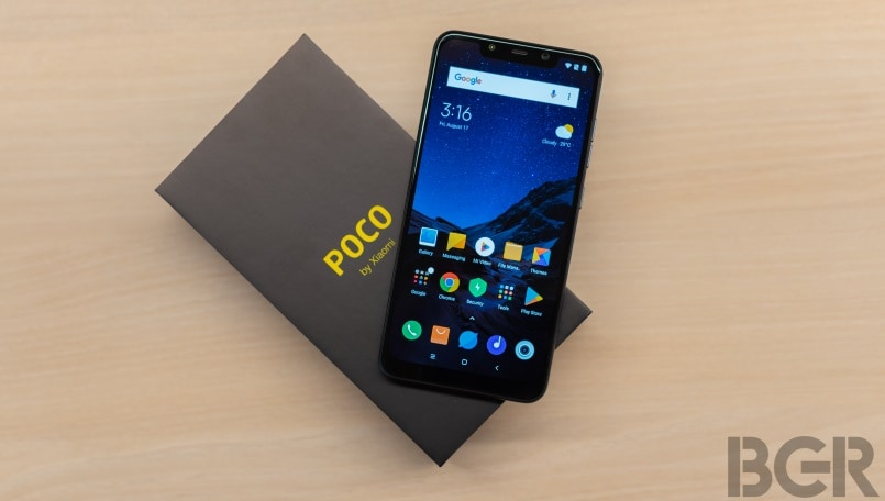 Presents the cheapest top-end smartphone from Xiaomi Pocophone F1